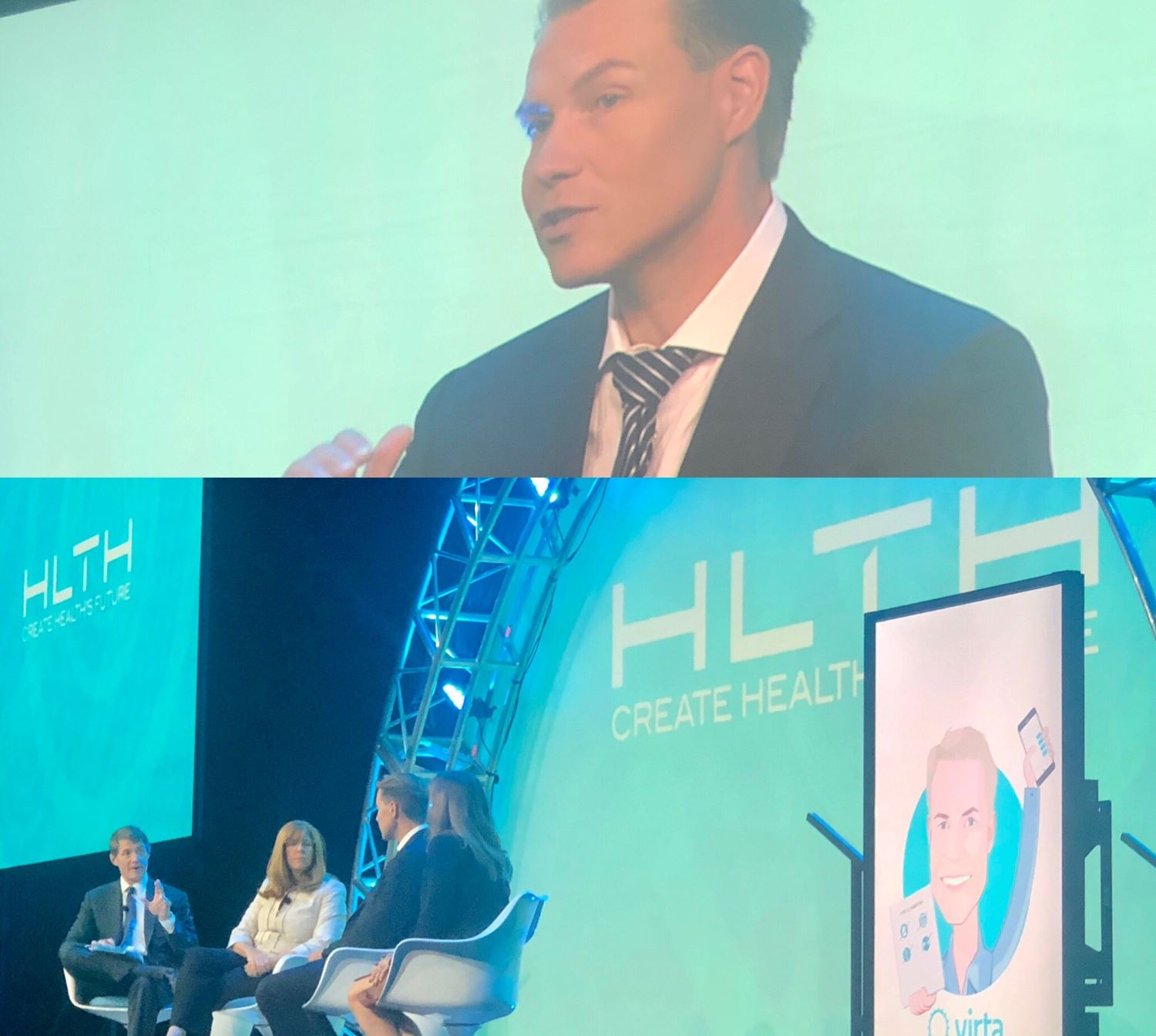 Virta Health CEO in a featured interview at HLTH conference