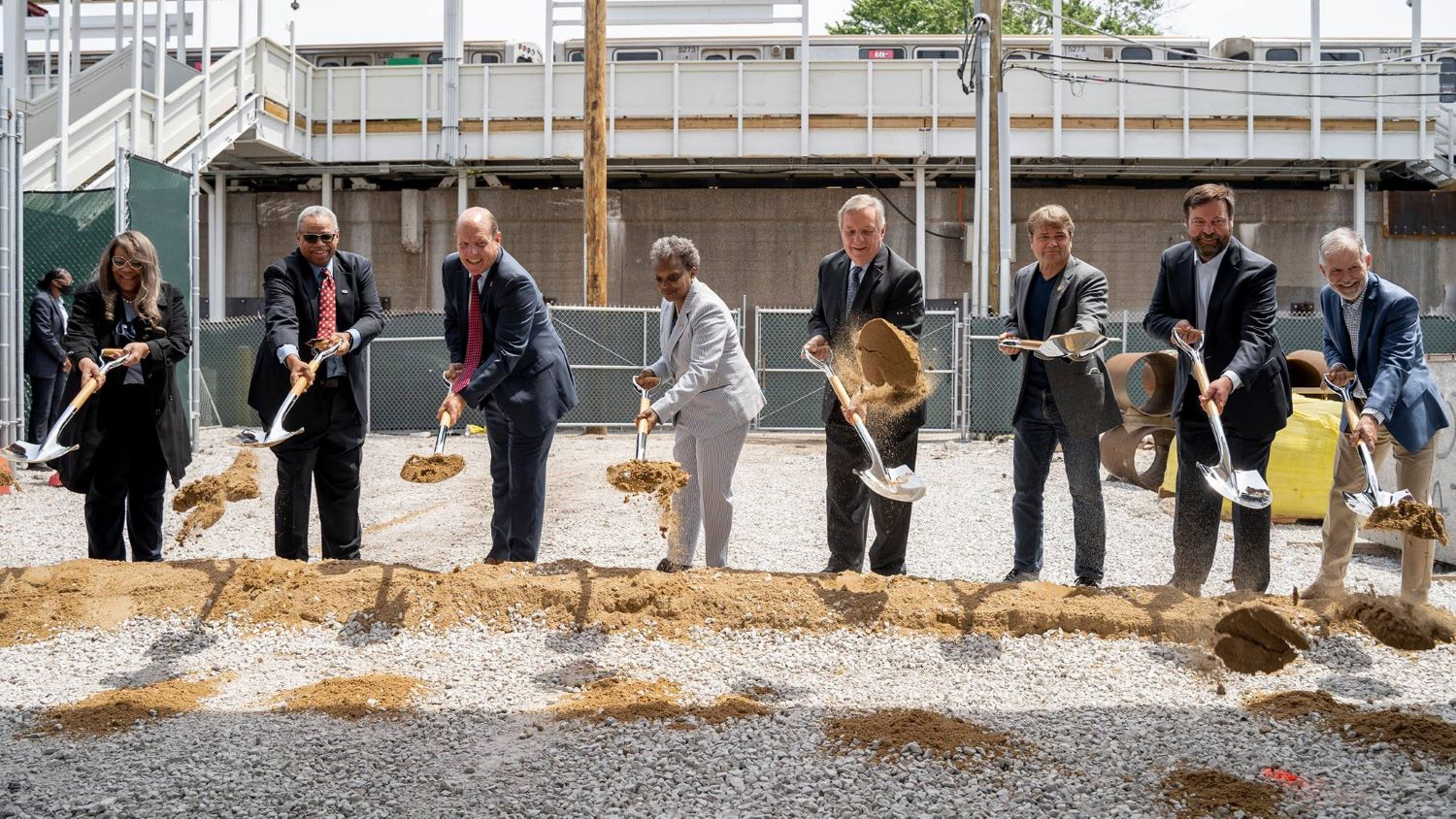 Chicago government agency in a ground breaking event