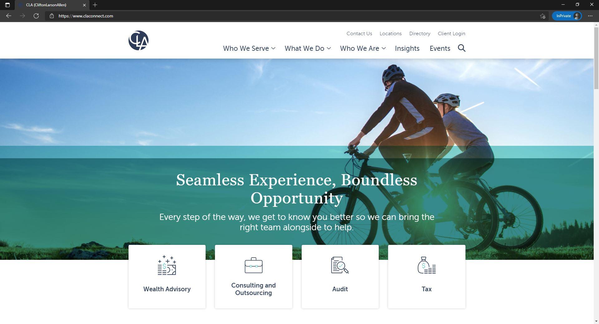 CLA website homepage